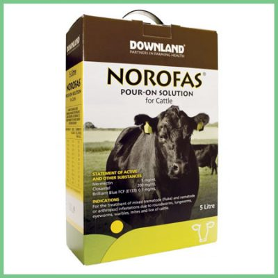 Downland Norofas pour on solution for cattle