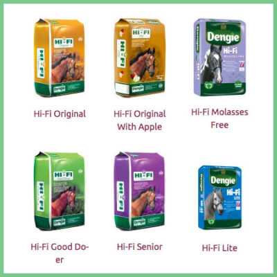 Dengie Hi-Fi range horse feeds
