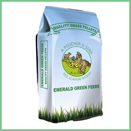 Emerald Green Feeds Grass Pellets