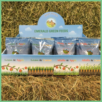 Emerald Green Feeds Tasty Treats