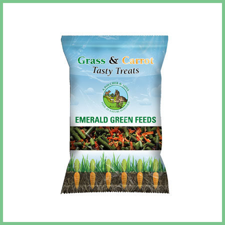 Emerald Green Feeds Tasty Treats Grass and Carrot